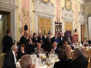 Il tavolo d' onore per i Soci Fondatori del Club